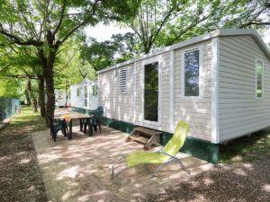 mobil home camping les chataigniers Laurac en Vivarais